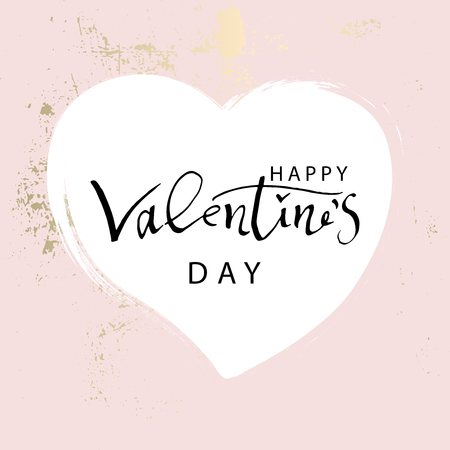 Abstract Trendy Chic Happy Valentine s Day Background. Romantic illustration for postcards, greeting cards, wedding invitations, anniversary, social media, banners, poster, party, save the date, blog