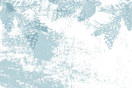 Trendy Chic Pastel colored background with painted christmas cedar tree silhouettes. Abstract unusual textures for wallpaper, greeting cards, headers, decoration elements. Vector