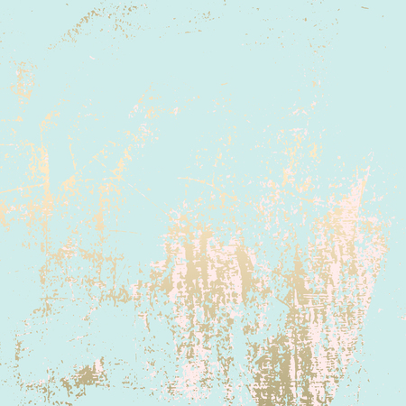 Abstract Grunge Pattina effect Pastel Gold Retro Texture. Trendy Chic Background made in Vector for your design