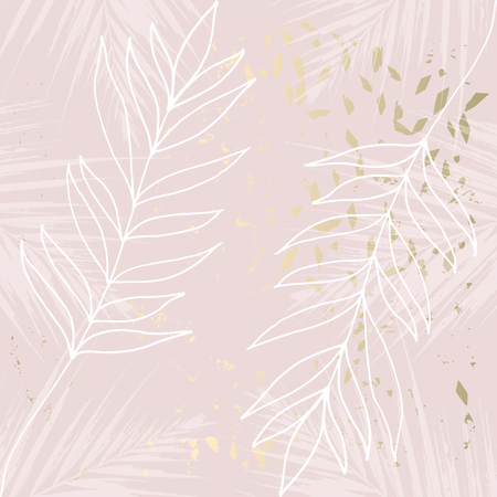 Tropical Worn Floral pastel rose gold marble pattern for wallpaper, textile, flooring, interior design, wedding invitation, fashion banners. Chic background for your design made in vector