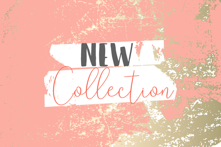 Elegant set of chic trendy coral marble gold luxury textures. Beautiful backgrounds for advertising, poster, invitations, wallpaper, textile, typography. Living coral Vektorgrafik