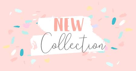 Trendy Sale Banner Design Pinsel handgezeichnete künstlerische Texturen