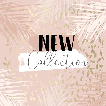 Colección de otoño elegante fondo de rubor dorado para redes sociales, publicidad, banner, tarjeta de invitación, boda, encabezado de moda Ilustración de vector