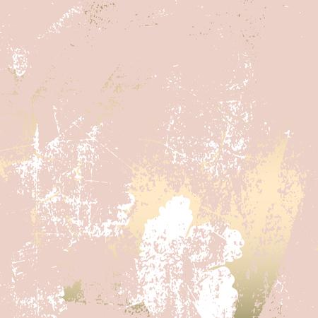Texture grunge de marbre à la mode en or rose blush chic avec ornement floral. Arrière-plan élégant pour la publicité, la décoration intérieure, la mode, le textile, le mariage, etc. Vecteurs