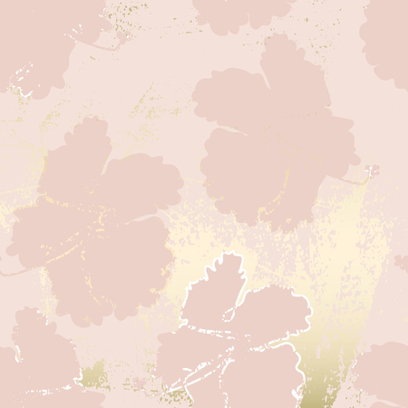 Chic blush pink gold trendy marble grunge texture with floral ornament Banco de Imagens - 122715298