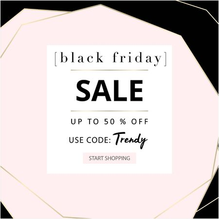 Black Friday autumn elegant collection trendy chic gold blush background for social media, advertising, banner, invitation card, fashion header, business