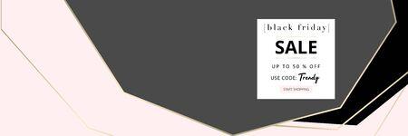 Black Friday autumn elegant collection trendy chic gold blush background for social media, advertising, banner, invitation card, fashion header, business Vector Illustratie