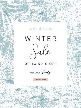 social media banner template for advertising winter arrivals collection or seasonal sales promotion. Vektorgrafik