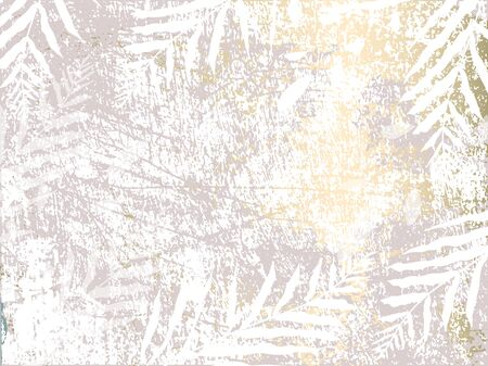 Tropical Worn Floral pastel rose grey gold pattern for wallpaper, textile, flooring, interior design, wedding invitation, fashion banners. Chic background for your design made in vector Ilustrace