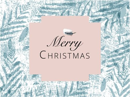Christmas cute greeting card or banner templates with different winter holidays symbols, animals and characters. hand drawn textures design concept