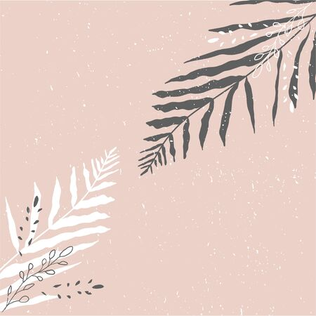 Tropical Worn Floral pastel pink blush pattern for advertising design, wedding invitation, fashion banners. Chic background for your design made in vector