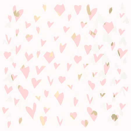 trendy chic valentines day retro textured background with gold patina  Ilustrace