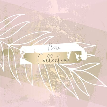 trendy hand drawn background textures with floral botanic elements