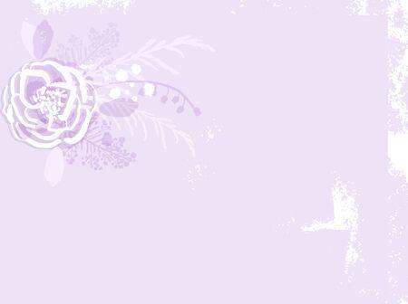 rustic florals on violet background Ilustração