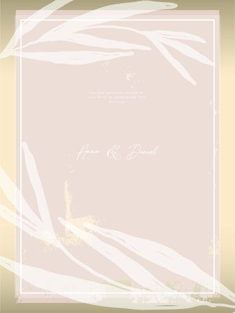Trendy chic NUDE PINK gold blush background for social media, advertising, banner, invitation card, wedding, fashion header
