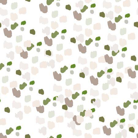 abstract spots confetti brush seamless pattern Ilustração