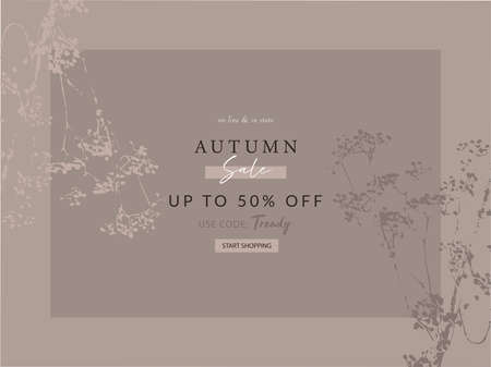 seasonal clearance banner template new autumn collection or sale Ilustração