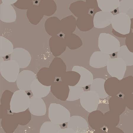 Floral abstract pattern. Stylized hydrangea flower
