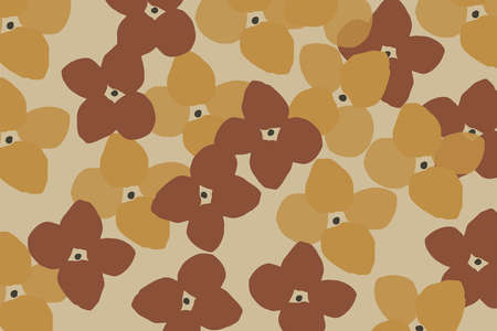Abstract floral pattern design for autumn social media