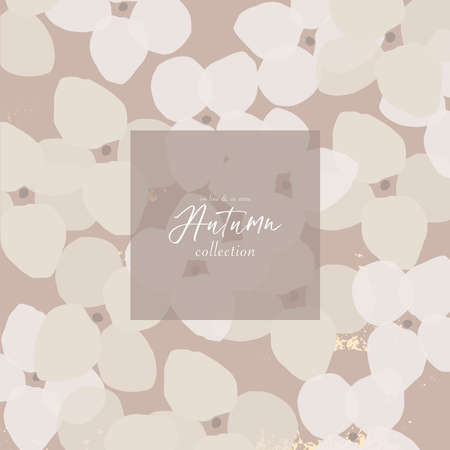 Abstract floral pattern design for autumn social media, covers, headers, banners, greeting cards, invitations, web design.Інтернет
