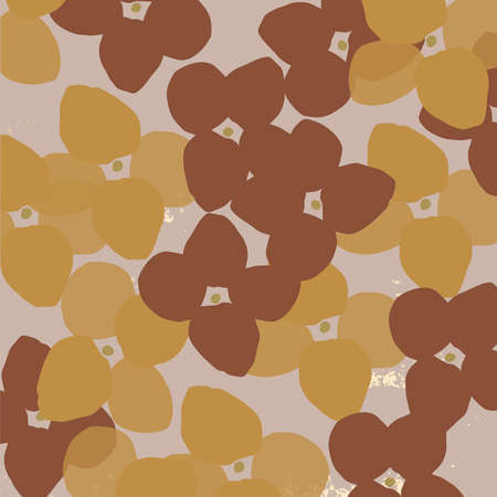 Abstract floral pattern with touch of gold foil design for autumn social media, covers, headers, banners, greeting cards, invitations, web