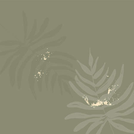Tropical chic background with flowers and botanical elements.