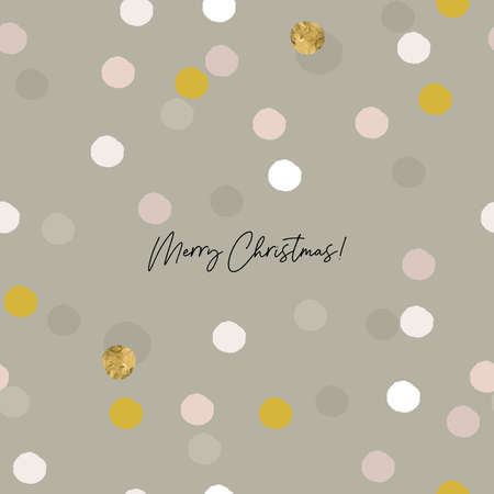 Abstract Christmas greeting card confetti gold foil glitter background  イラスト・ベクター素材