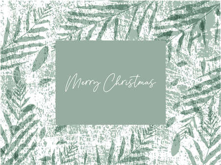Merry Christmas greeting banner template for advertising or greeting cards