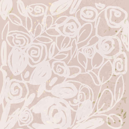 Floral chic NUDE PINK gold blush rustic background f
