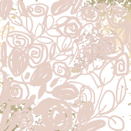 Floral chic NUDE PINK gold blush rustic background
