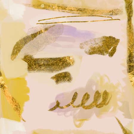 Seamless pattern abstract brush stokes modern fine art painting Фото со стока