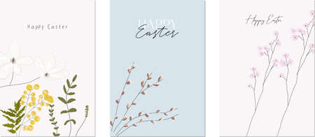 Happy Easter floral greeting cards