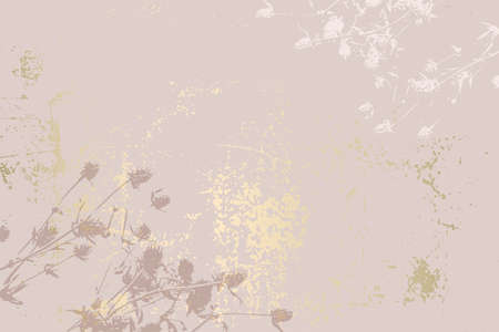 Abstract Marble Trendy Texture in Pastel and Gold colors Vettoriali