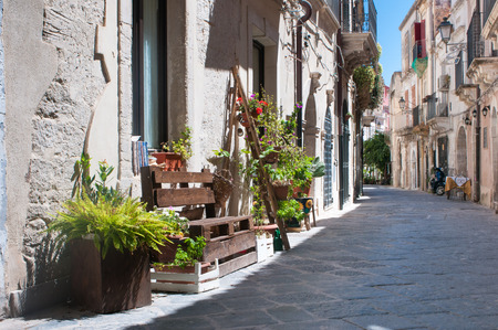 Views of the streets of Ortigia, the old part of Syracuse