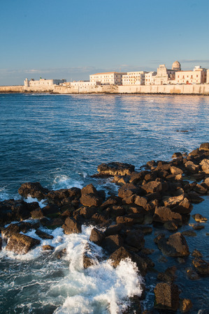 ortigia: Eastern side of Ortigia, the ancient part of Syracuse, Sicily, with sea and rocks