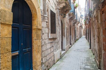 ortigia: Views of some corners along the streets of the old part of Syracuse Ortigia Stock Photo