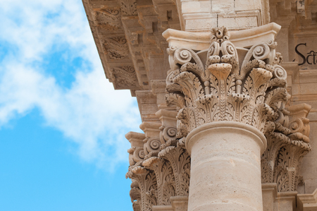 syracuse: Some baroque elements in the external facade of the Cathedral of Syracuse