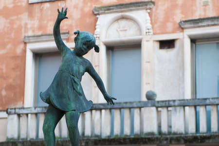 brassy: Detail of the fountain in Old Contr Fish, Vicenza