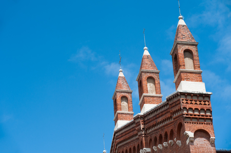 crown spire: Pinnacles at the top of the gothic church of Santa Corona in Vicenza
