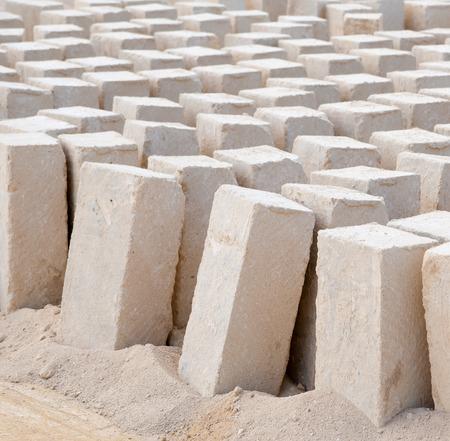 blocs de tuf dans une carrière de pierre Banque d'images