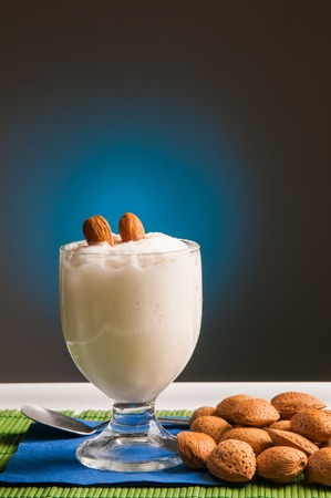 typical: Typical sicilian almond granita