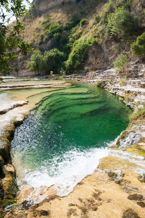 natural pool: View of a natural pool in the natural reserve of Cavagrande canyon, sicily Stock Photo