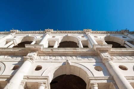 lords: Bottom view of one side of the Palladian basilica in Vicenza, Italy