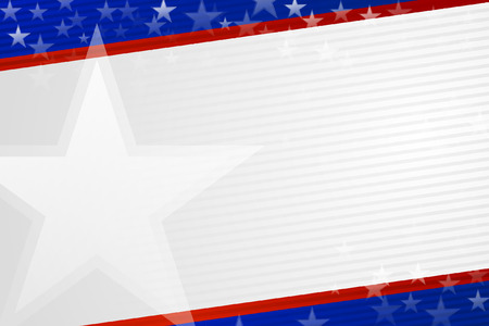 Independence day background in American colors .
