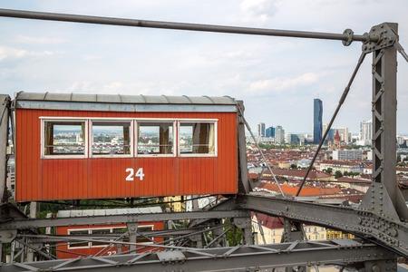 prater: The oldest Ferris Wheel in Vienna, Austria. Prater park