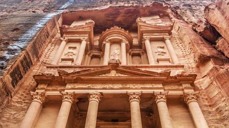 treasury: Al Khazneh - the treasury of Petra ancient city, Jordan