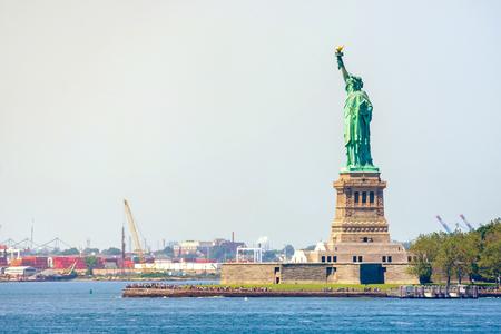 Statue of Liberty at Liberty Island in New York City Banco de Imagens