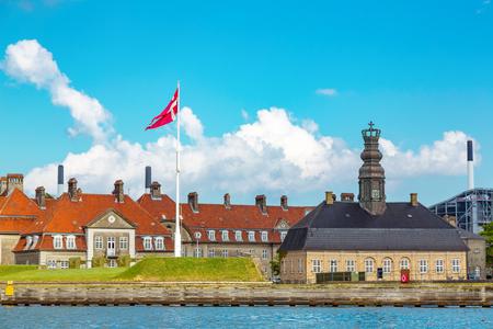 Central Guardhouse in Former harbor naval base Nyholm, Copenhagen, Denmark.