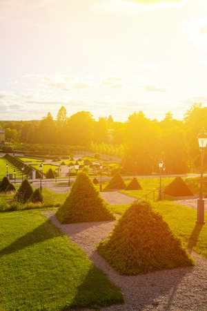 View of one of the oldest botanical gardens in the world - the Garden of Linnaeus, which is located near Uppsala University.