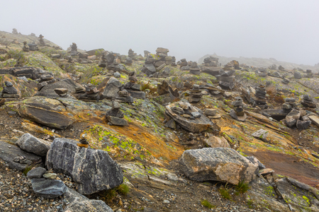 Noth Norway summer mountain cloudy tundra scene